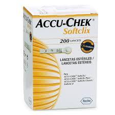 LANCETAS ACCU-CHEK® SOFTCLIX CON 200PZAS